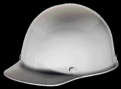 MSA White Skullgard Class G Type I Hard Cap With Staz-On Suspension