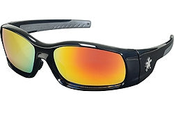 Crews Glasses Swaggeer® Black frame, Fire Mirror Lens