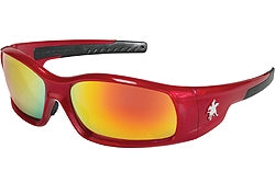 Crews Glasses Swaggeer® Red frame, Fire Mirror Lens