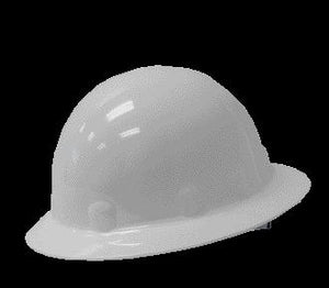 Fibre-Metal White SUPEREIGHT Class E, G or C Type I Thermoplastic Hard Hat With Full Brim And 3-R Ratchet Suspension