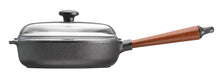 Skeppshult 25 cm Sauté Pan with Beechwood Handle and Glass Lid