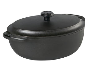 Skeppshult 4.0 Liter Oval Casserole Dish with Cast Iron Lid