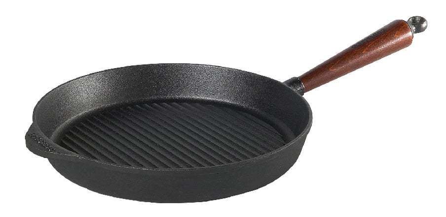 Skeppshult 28 cm Grill Pan with Beechwood Handle