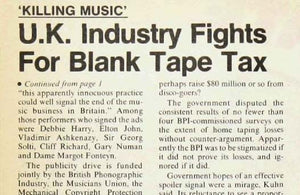 Home taping was killing music. Was it?
