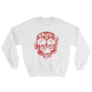 Bros 18000 Heavy Blend Crewneck Sweatshirt White Front Flat