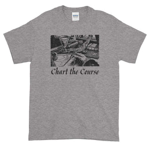 Chart The Course Gildan 2000 Ultra Cotton T-Shirt Front Flat Sport Grey