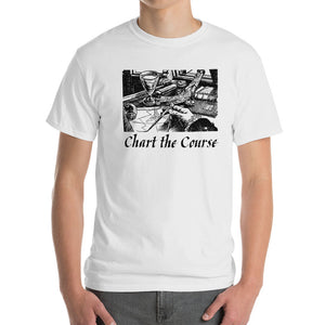 Chart The Course Gildan 2000 Ultra Cotton T-Shirt Front Mens White