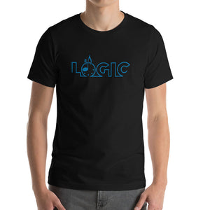 Emagic Logic Bella+Canvas 3001 Unisex Short Sleeve Jersey T-Shirt Front Mens Black