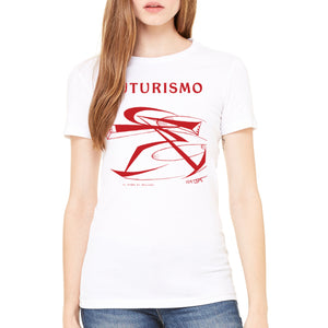 Futurismo Il Pugno di Boccioni Bella+Canvas 6004 Ladies T-Shirt Womens Flat White