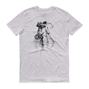 Heinrich Kley Anvil 980 Men T-Shirt Front Flat Heather Grey