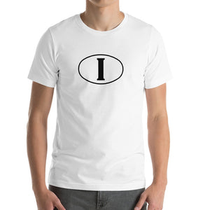 Italia Bella+Canvas 3001 Unisex T-Shirt Front Mens White