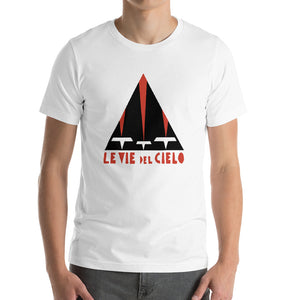 Le vie del cielo Bella+Canvas 3001  Unisex T-Shirt Front Mens White
