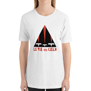 Le vie del cielo Bella+Canvas 3001  Unisex T-Shirt Front Womens White