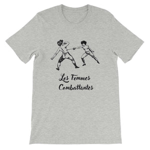 Les Femmes Combattentes Front Flat Athletic Heather Bella+Canvas 3001 Unisex T-Shirt