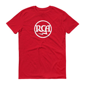 Logo RCA Anvil 980 Lightweight T-Shirt Front Flat Red