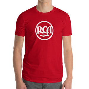 Logo RCA Anvil 980 Lightweight T-Shirt Front Mens Red
