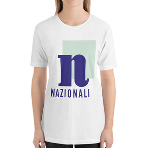 Nazionali Bella Canvas Jersey Unisex T-Shirt Front Womens White