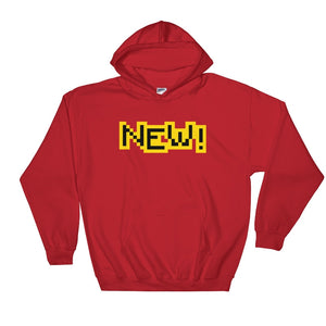 New Gildan 18500 Unisex Heavy Blend Hooded Sweatshirt Front Flat Red