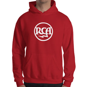 RCA Gildan 18500 Heavy Blend Hooded Sweatshirt Front Mens Red