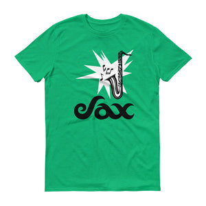 Sax Anvil 980 Lightweight T-Shirt Front Flat Heather Green