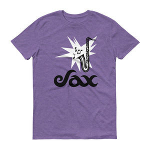 Sax Anvil 980 Lightweight T-Shirt Front Flat Heather Purple