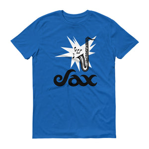 Sax Anvil 980 Lightweight T-Shirt Front Flat Royal Blue