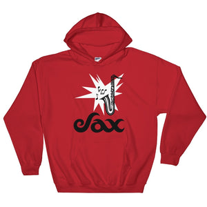 Sax Gildan 18500 Heavy Blend Hooded Sweatshirt Front Flat Red