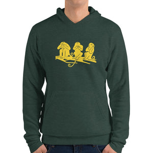 Serie gialla Bella+Canvas 3719 Unisex Fleece Pullover Hoodie Front Womens Heather Forest