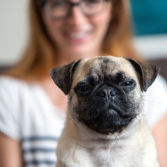 Laura and Buddy The Black Pug Press
