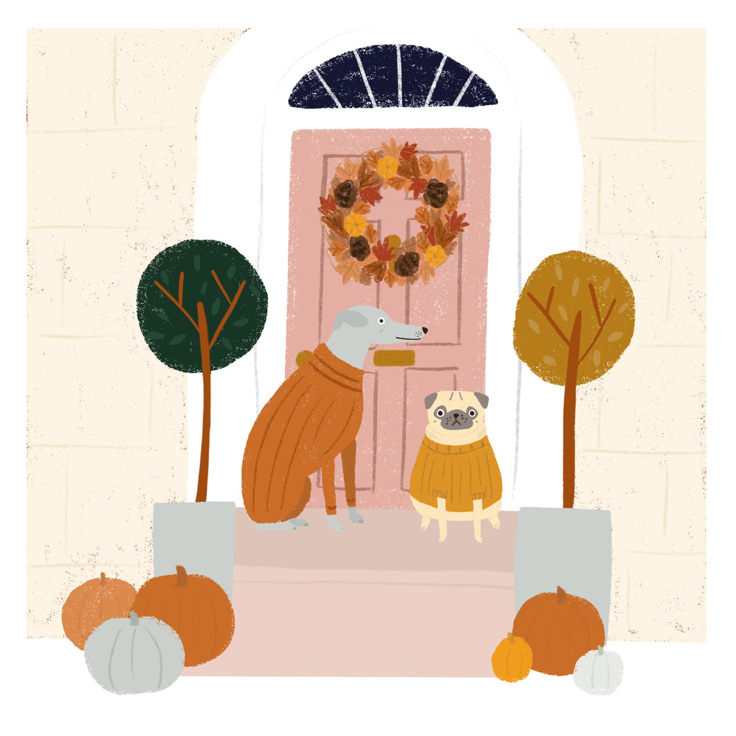 New Home Autumnal Dog Print