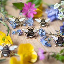 bee enamel pins
