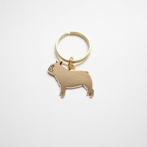 french bulldog dog keyring