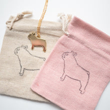 French bulldog frenchie necklace and pouches
