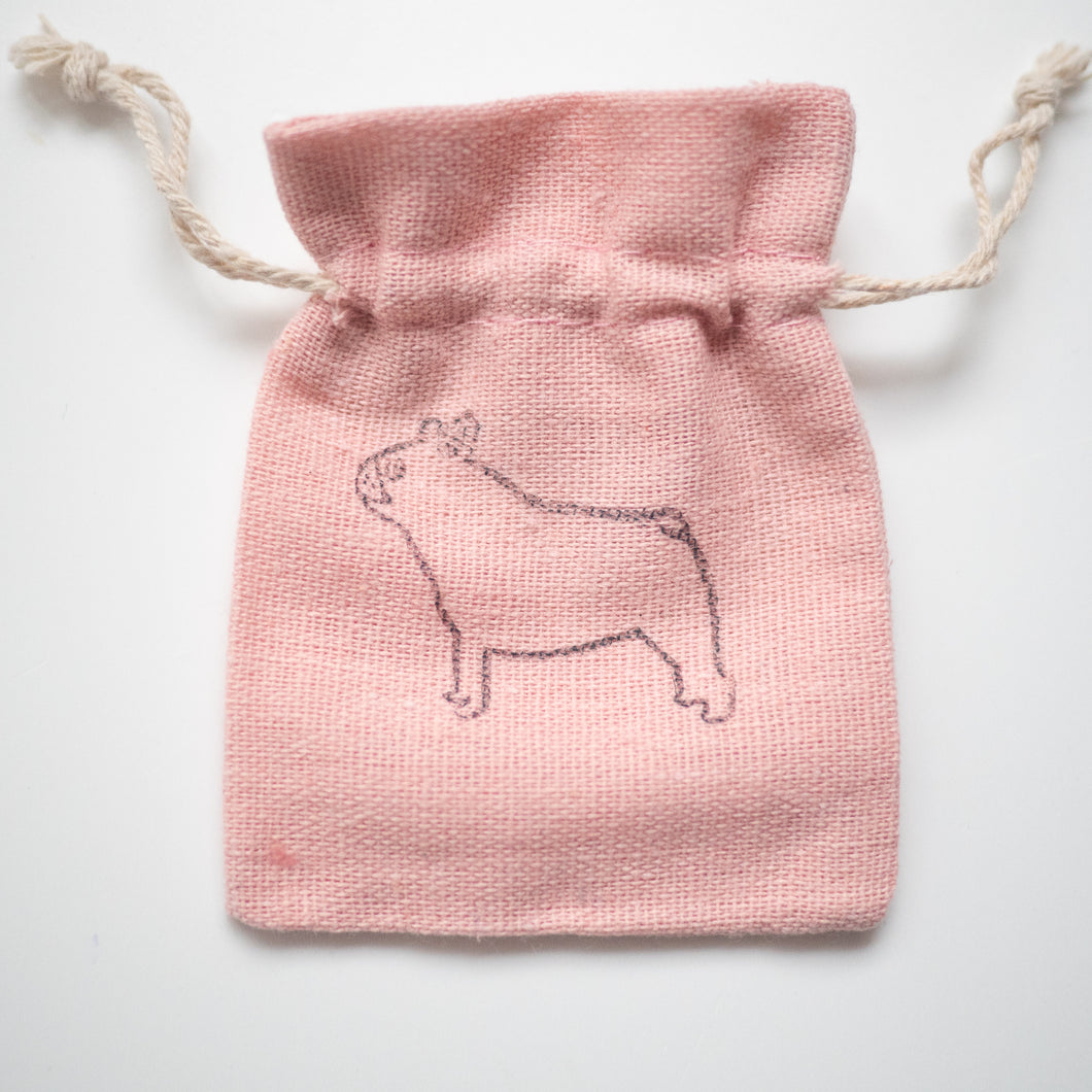French bulldog printed pouch