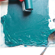 Green lino printing ink