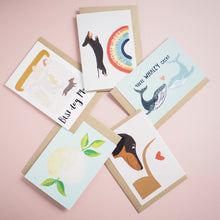 Set of 5 greetings cards