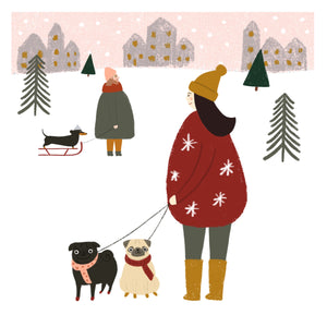 Scandi Christmas Dog Print