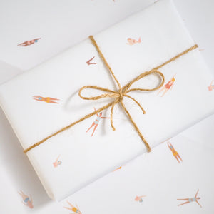 wild swimming wrapping paper