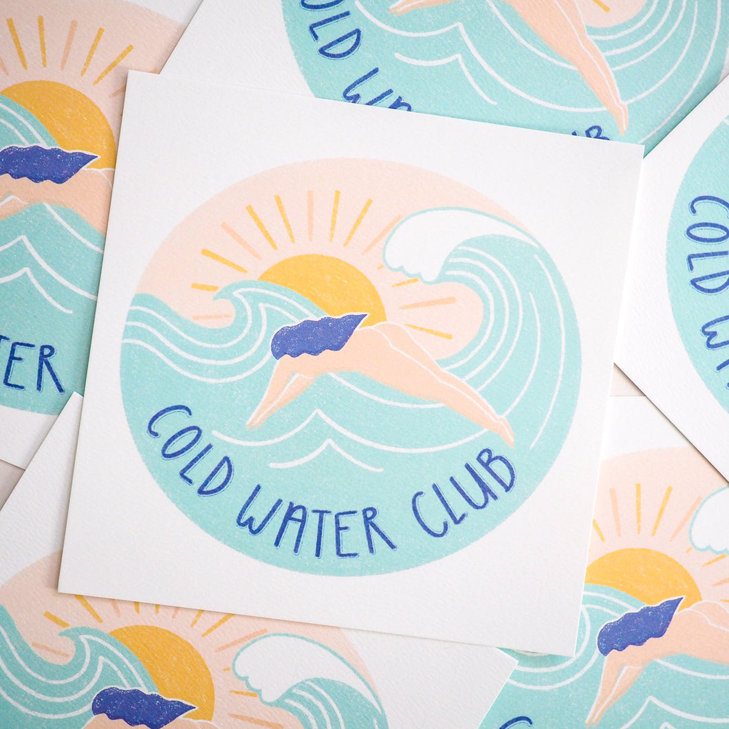 cold water club wild swimming print