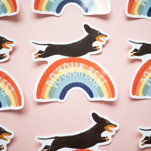 Do your best sausage dog sticker