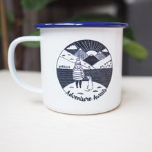 adventure awaits dog lover mug