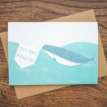 narwhal magical greetings card