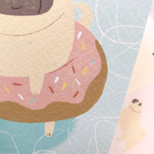 close up of pug postcard