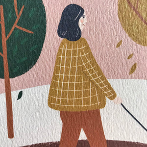 close up of autumn walk print