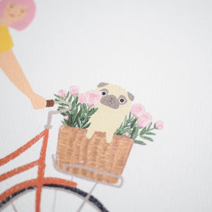 pug in bike basket