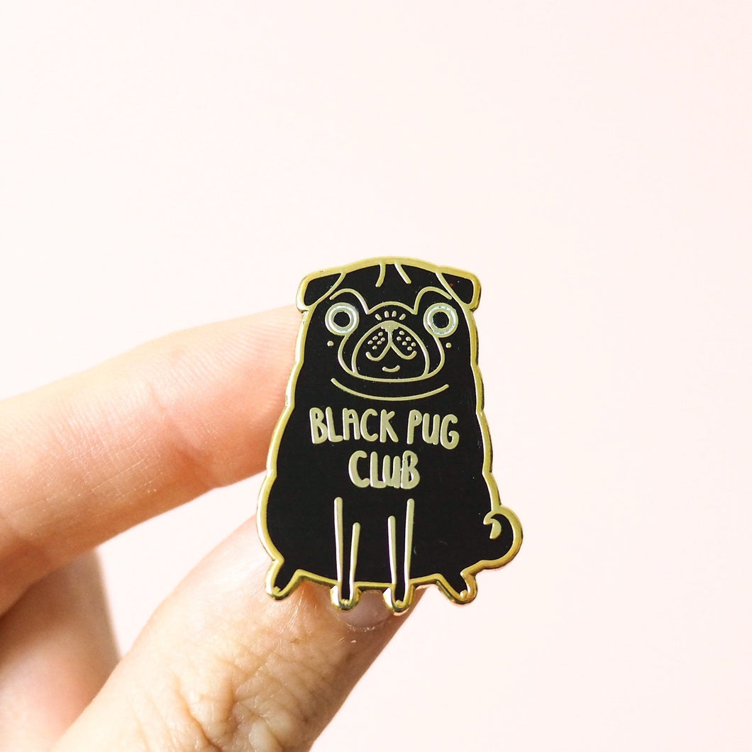 black pug club pin