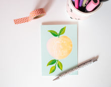 you're a peach lino print greetings card