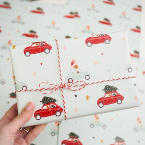pug print christmas wrapping paper