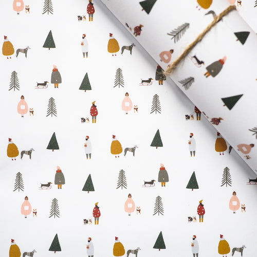 Scandi dogs christmas wrapping paper