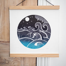 nautical lino print